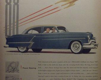 1953 OLDSMOBILE SUPER 88 Original Vintage Automobile Advertising Antique Cars Additional Ads Ship Free Ready To Frame