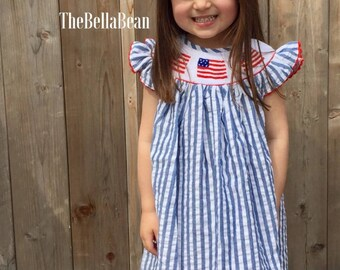 American Flag Bishop Dress
