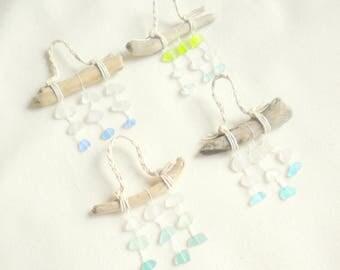 Seaglass ornament / sea glass ornament / beach glass ornament / beach christmas ornament