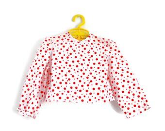Toddler Top, Toddler Blouse, Toddler Shirt, Baby Top, Vintage Toddler Top, Retro Toddler Top