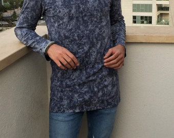 Mens Designer Clothing-Mens Slim Fit Shirt, Mens Scoop Neck Shirt, Mens Graphic Tee,Mens Tunic, Mens Trendy Top, Mens Clothing, Mens Fashion