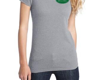 Merlotte's Bar and Grill Waitress Shirt, District Threads Shirt, Direct to Garment, Women's Shirt, Heather Grey Shirt, True Blood Shirt