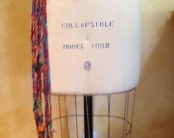 Super Cool Embroidered Woven Textile Design Sash Belt With Fringed Tie Fiber Art
