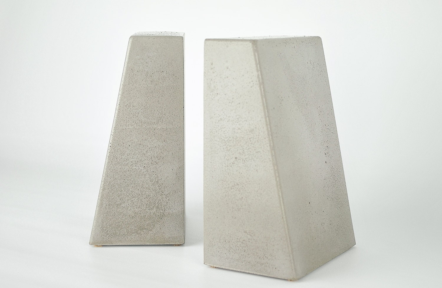 modern concrete bookends heavy bookends kitchen book ends - 🔎zoom