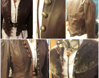 Women's Steampunk Military Style Jacket