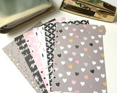 Set of 6 // A5 or Personal Planner Dividers // A5 Dividers // Personal Dividers // Valentine Dividers // Spring Dividers // Unicorn Dividers