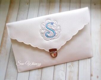 Monogrammed clutch, purse