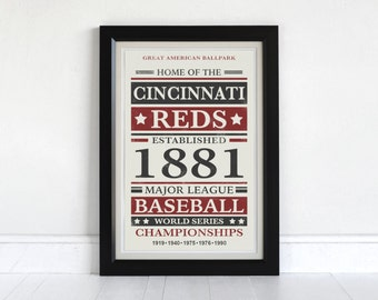 Cincinnati Reds - Screen Printed Poster