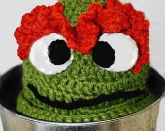 Sesame Street Beanie - Crochet Elmo Hat - Oscar the Grouch - Baby Character Hat - Baby Beanie Hat - Knit Baby Beanie