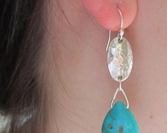 Turquoise Earrings - Casual, Unique, Southwestern, For Her, Gift For Her, Birthday, Gift For Friend, Rodeo Days Jewelry, Gift For GIrlfriend