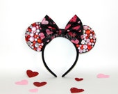 Valentine's Day Mouse Ears // VDay Mouse Ears // Pink & Red Minnie Ears // READY to SHIP // by Born Tutu Rock