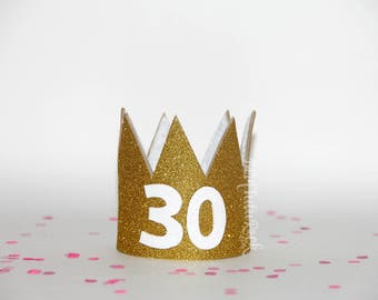 30th Birthday Crown || Birthday GLAM crown || Ready to Ship || by Born TuTu Rock