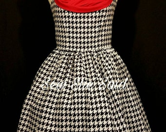 Houndstooth Retro Pin-up Dress