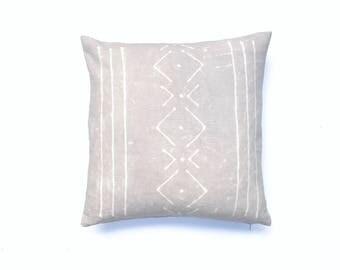 Grey Pillow Hand dyed Boho Pillow   Gray Pillow Cover 18 x 18 Tribal Pillow Shibori Light Gray Throw Pillow Decorative Pillow
