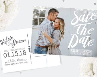 Rustic Save the Date, Wedding Save the Date, postcard, save the date card, photo card