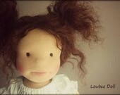 Waldorf inspired doll called April  18 doll