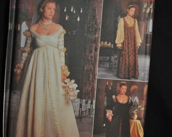 Misses' Renaissance Costume - Simplicity #8735 - Sizes 10-12-14 - UNCUT
