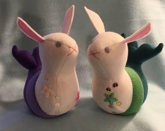 Mermaid Bunny Bean - Custom Made
