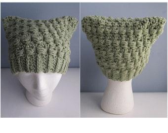 Crochet Cat Ear Hat / Crochet Cat Ear Beanie Pattern / Crochet Cat Ears /  Adult & Teen Cat Ear Hat Crochet Pattern - Cat Ear Hat Pattern