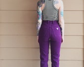 GUESS High Waisted Vintage Plum Purple Skinny Leg Mom Jeans // Women's size 23 24 XS Small S