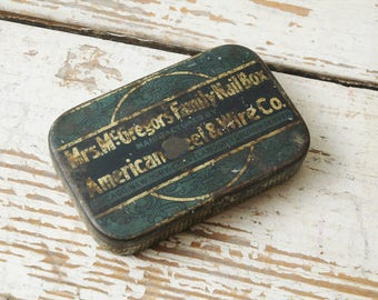 American Steel and Wire Company Nail Box Metal