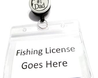 Waterproof keychain etsy for Fishing license illinois