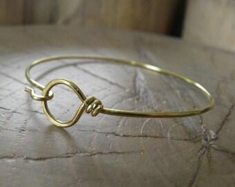 "Bracelet...NEW ""Hooked"" hand wrapped brass bracelet."