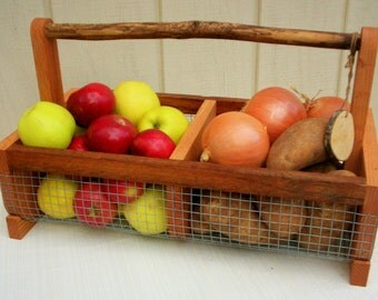 Storage Bin (BURLIN)Handcrafted Basket, Hod Basket, Picnic Basket, Vegetable Basket, Medium Size Bin