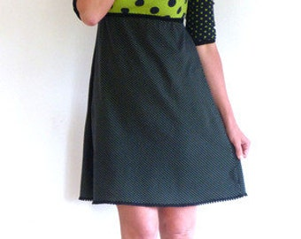 3/4-sleeve, form A, Empire dress