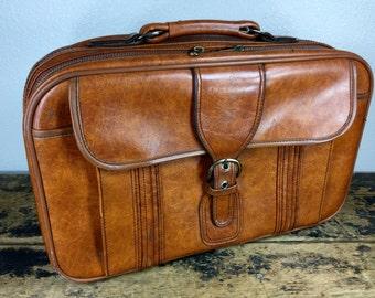 Vintage Brown  Suitcase Luggage