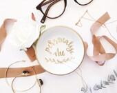 Personalized Ring Dish, Jewelry Dish, Trinket Dish, Wedding Ring Dish