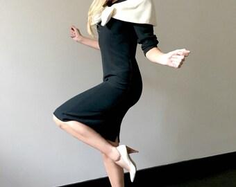 Vintage 80s Avant Garde Bow Dress
