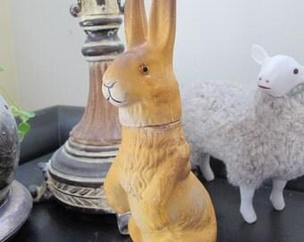 Papier-mâché Easter Candy-Box Bunny Rabbit. EASTER Bunny. Easter Home Decor. Easter Spring Collectibles. Paper Mache Rabbit. German Candy