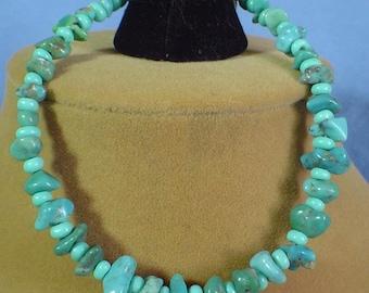 """8-3/4"""" Turquoise Nuggets Bracelet - B034"""