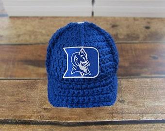 Baby Boy Hat Newborn Hat Infant Hat Newborn Duke University baseball hat - Baby Boy Coming Home Outfit, handmade baby newborn