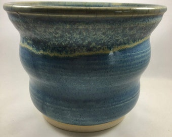 Pottery Bowl, Ceramic Bowl, Blue Bowl, Handmade Bowl, Serving Bowl, Serving Dish, Wavy Bowl, Stoneware Bowl