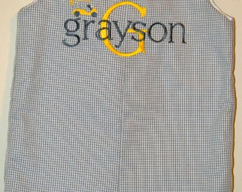 Custom made Personalized Monogrammed Golf Jon Jon, Romper