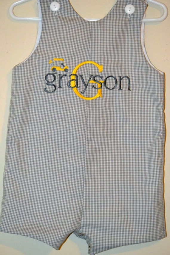 Custom made Personalized Monogrammed Golf Jon Jon, Romper
