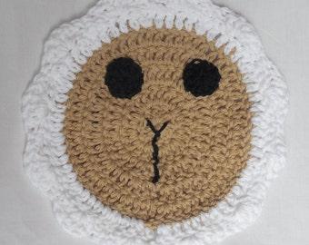 Easter Kitchen Towel - Spring Lamb Dish Cloth - Sheep Washcloth -  Easter Kitchen Decor - Cotton Dish Towel