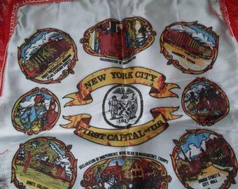 Vintage NEW YORK CITY Souvenir Travel Pillow Cover Case