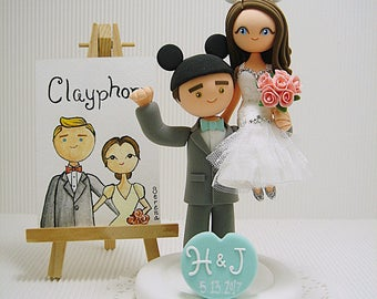 Mickey and Minnie mouse couple  Custom Wedding cake topper