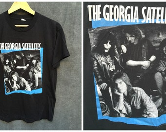 1988 The Georgia Satellites Open All Night Tour T-Shirt - Men's Size XL