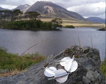 Silver Atlantic 1 Earrings by Ruairí O'Neill