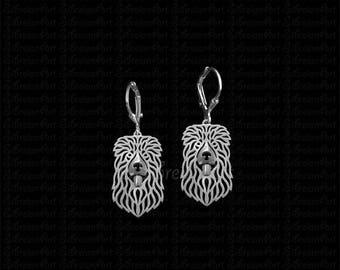 Caucasian Ovcharka earrings - sterling silver