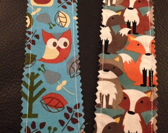 Fox Bookmark, Owl Book Mark -  perfect gift for teachers, librarians, or any book lover