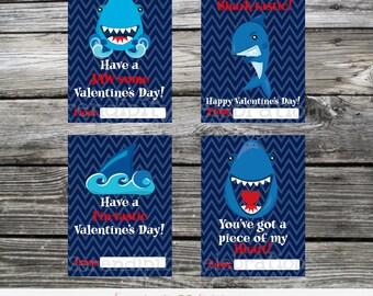 Instant Download, Shark Valentine Cards, Printable Valentine Card, Shark, Shark Valentine Stickers, Shark Valentine Tags, Kids Valentines