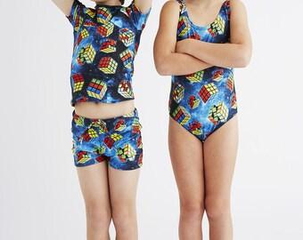 RUBIKS CUBES: Boy's Swim Shorts