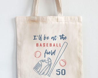 Personalized Team Number Baseball Field Quote Unisex Adjustable Strap Tote Bag American Made Travel Sports Bag Market Tote Gym Carryall