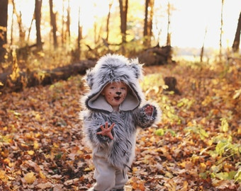 Boutique Custom Wolf, Little Red Ridding Hood, Big Bad Wolf, Pageant, Photography Sizes 2t-5