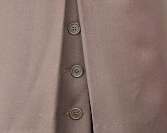 Simple Chic ESCADA Skirt || Light Mocha Brown || Escada by Margaretha Ley||  1980s || Size 4